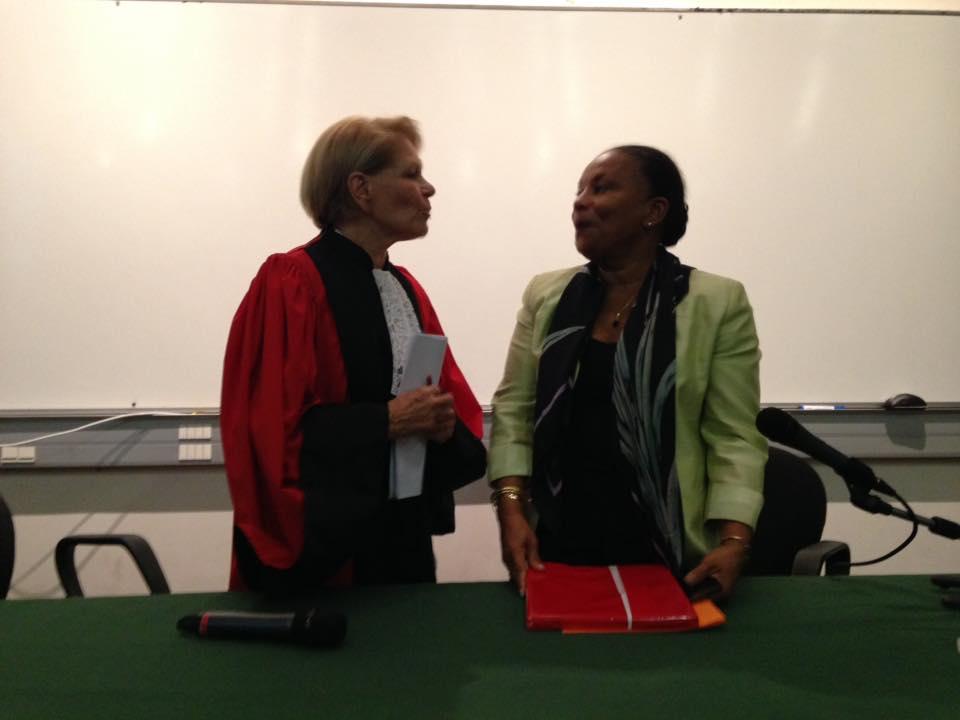 Marie-Elisabeth André et Christiane Taubira