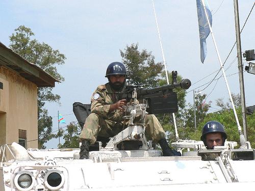 Véhicule blindé pakistanais de la MONUC (Mission des Nations Unis en RD Congo)