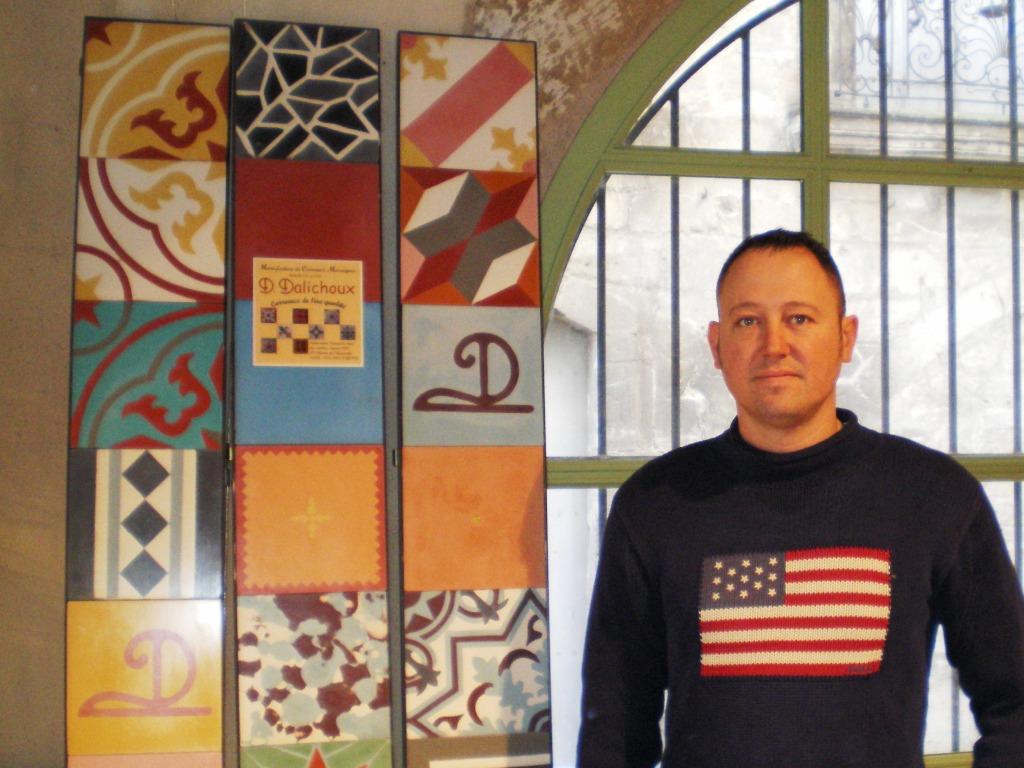 Grâce à la mosaïque, David Dalichoux ne sera jamais sur le carreau