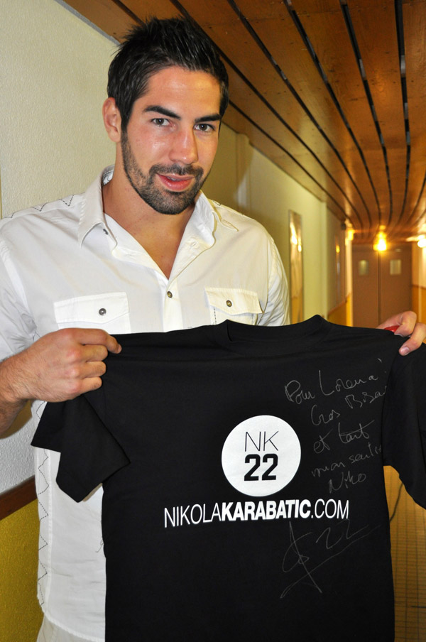 Nikola Karabatic soutient Lorena