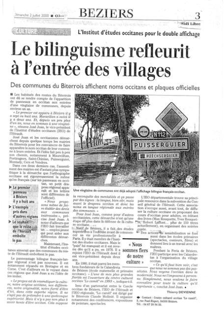 La culture occitane : « Ça ne sert à rien, ça sert à être »