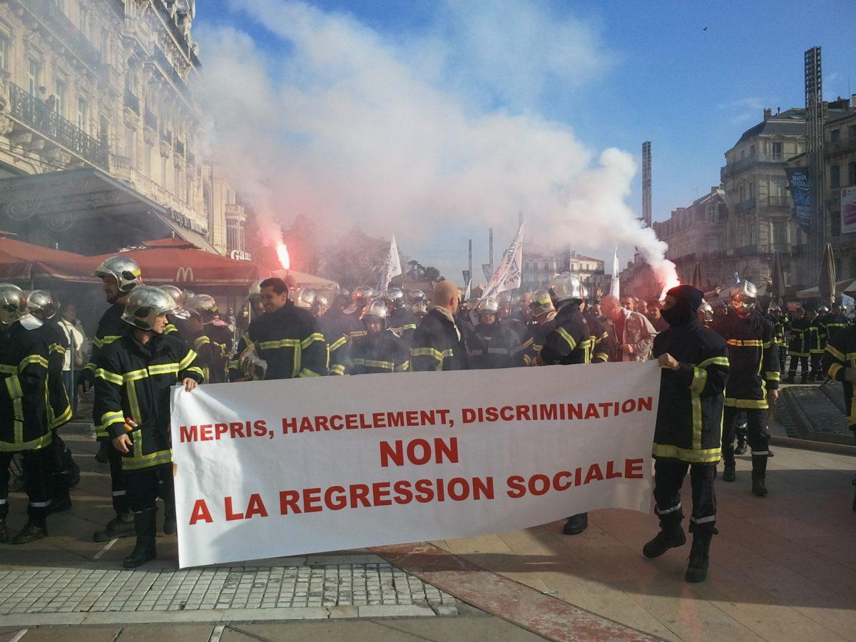 Les pompiers en grève contre le management de la direction