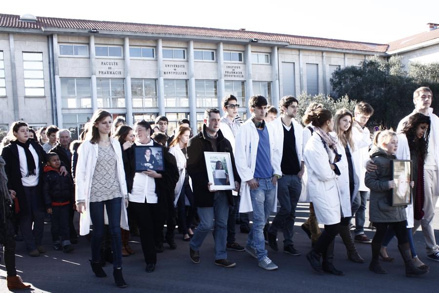 La faculté de pharmacie se mobilise : marche blanche en l'honneur de Charlotte, tuée par un chauffard ivre