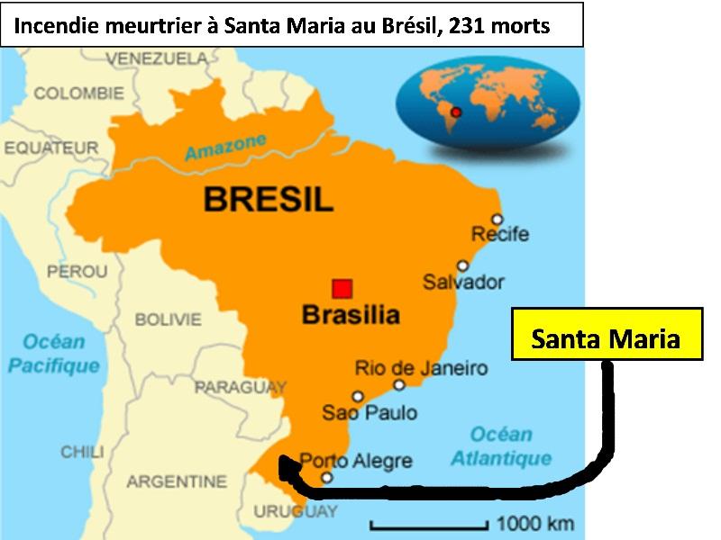 Une enquête ouverte après l'incendie meurtrier dans une discothèque au Brésil