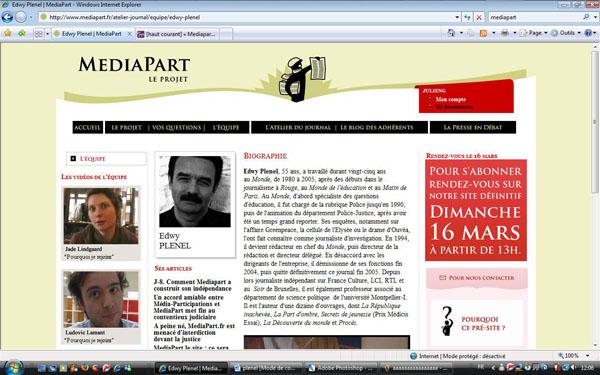 Mediapart explore les terres vierges de l'Internet