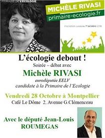 POLITIQUE – Primaire des écolos : Michèle Rivasi à Montpellier