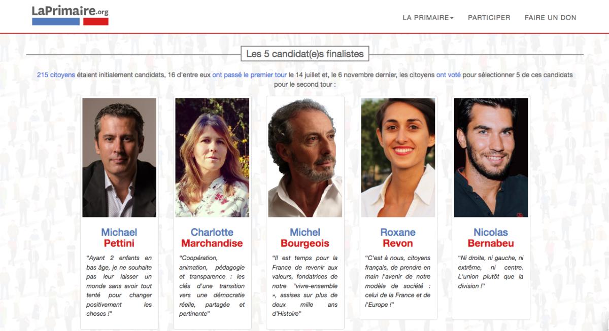 LaPrimaire.org: un «très bien» pour Charlotte Marchandise