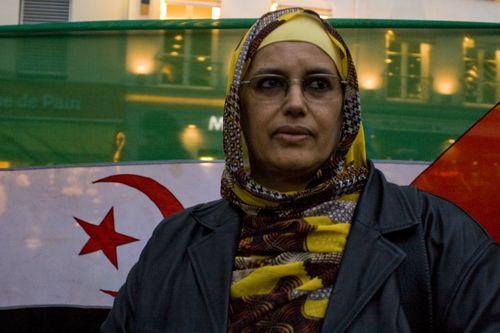 El Ghalia Djimi, militante sahraouie en territoire occupé