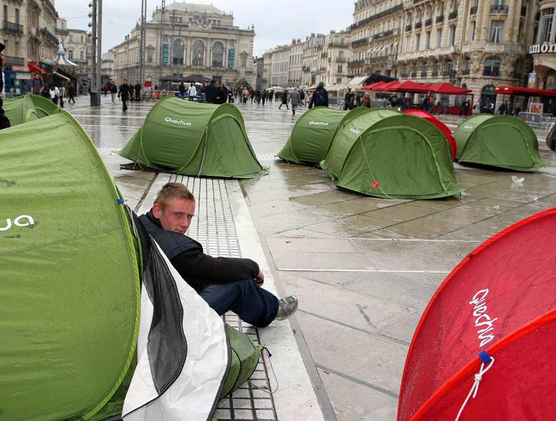 Don Quichotte plante ses tentes sur la Comédie