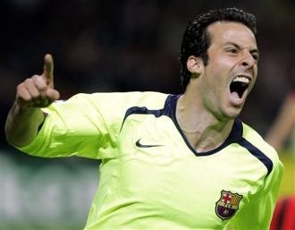 En 2006, Giuly gagne la Ligue des Champions avec le FC Barcelone