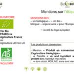 Mentions obligatoires pour l'étiquetage des vins bio