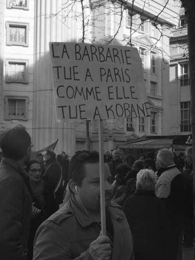 La barbarie tue à Paris comme elle tue à Kobané